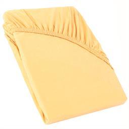 Perla Spannbettlaken Topper Baumwolle creme gelb 120x200 - 130x200