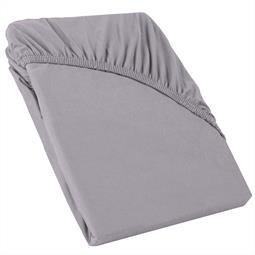 Perla Spannbettlaken Topper Baumwolle dunkel grau 120x200 - 130x200