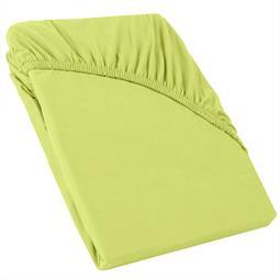 Perla Spannbettlaken Topper Baumwolle grün 120x200 - 130x200