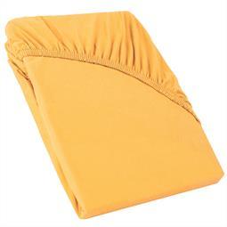 CelinaTex Spannbettlaken Topper Baumwolle Perla mais gelb 120x200 - 130x200