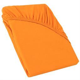 Perla Spannbettlaken Topper Baumwolle orange 140x200 - 160x200