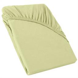 Perla Spannbettlaken Topper Baumwolle pistazien grün 140x200 - 160x200