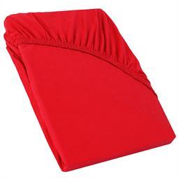 Perla Spannbettlaken Topper Baumwolle rubin rot 90x200 - 100x200