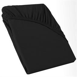 Perla Spannbettlaken Topper Baumwolle schwarz 140x200 - 160x200