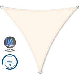 CelinaSun Sonnensegel PES UPF 50+ UV-Schutz wasserabweisend Dreieck 4,6x4,6x4,6 cremeweiß