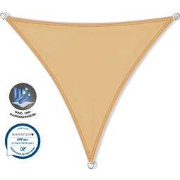 CelinaSun Sonnensegel PES UPF 50+ UV-Schutz wasserabweisend Dreieck 5,6x5,6x5,6 sandbeige