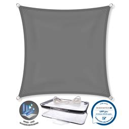 CelinaSun Sonnensegel PES UPF 50+ UV-Schutz Quadrat 2x2 anthrazit