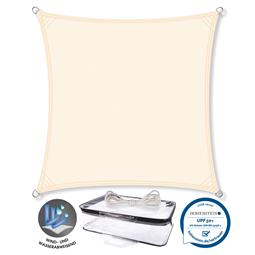 CelinaSun Sonnensegel PES UPF 50+ UV-Schutz Quadrat 5x5 cremeweiß