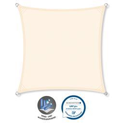 CelinaSun Sonnensegel PES UPF 50+ UV-Schutz wasserabweisend Quadrat 5x5 cremeweiß