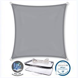 CelinaSun Sonnensegel PES UPF 50+ UV-Schutz Quadrat 3x3 hellgrau