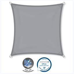 CelinaSun Sonnensegel PES UPF 50+ UV-Schutz wasserabweisend Quadrat 3x3 hellgrau