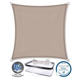 CelinaSun Sonnensegel PES UPF 50+ UV-Schutz wasserabweisend Quadrat 2,6x2,6 taupe