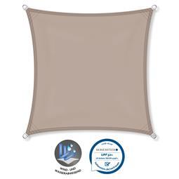CelinaSun Sonnensegel PES UPF 50+ UV-Schutz wasserabweisend Quadrat 4x4 taupe