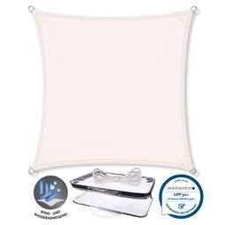 CelinaSun Sonnensegel PES UPF 50+ UV-Schutz wasserabweisend Quadrat 2x2 weiß
