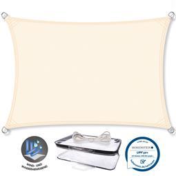 CelinaSun Sonnensegel PES UPF 50+ UV-Schutz Rechteck 3x4 cremeweiß