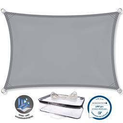 CelinaSun Sonnensegel PES UPF 50+ UV-Schutz Rechteck 2x4 hellgrau
