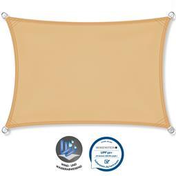 CelinaSun Sonnensegel PES UPF 50+ UV-Schutz wasserabweisend Rechteck 3x6 sandbeige
