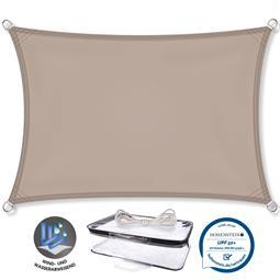 CelinaSun Sonnensegel PES UPF 50+ UV-Schutz Rechteck 2x3 taupe