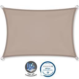 CelinaSun Sonnensegel PES UPF 50+ UV-Schutz wasserabweisend Rechteck 2,5x3,5 taupe