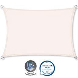 CelinaSun Sonnensegel PES UPF 50+ UV-Schutz wasserabweisend Rechteck 2,5x5 weiß