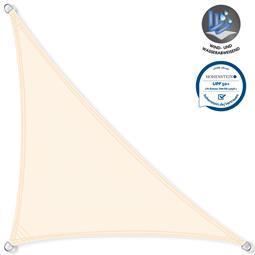 CelinaSun Sonnensegel PES UPF 50+ UV-Schutz wasserabweisend Dreieck 4,6x4,6x6,5 cremeweiß