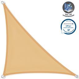 CelinaSun Sonnensegel PES UPF 50+ UV-Schutz wasserabweisend Dreieck 3,6x3,6x5,1 sandbeige