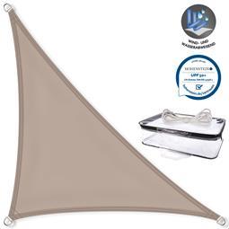 CelinaSun Sonnensegel PES UPF 50+ UV-Schutz Dreieck 2,5x2,5x3,5 taupe