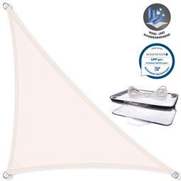 CelinaSun Sonnensegel PES UPF 50+ UV-Schutz wasserabweisend Dreieck 2,5x2,5x3,5 weiß
