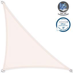 CelinaSun Sonnensegel PES UPF 50+ UV-Schutz wasserabweisend Dreieck 3,2x3,2x4,5 weiß