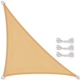 CelinaSun Sonnensegel PES wind- und wasserabweisend inkl. Befestigungsseile BASIC Dreieck 3,6x3,6x5,1 sandbeige