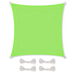 CelinaSun Sonnensegel PES wasserabweisend imprägniert inkl. Befestigungsseile Quadrat 3,6x3,6 grün