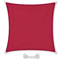 CelinaSun Sonnensegel PES wasserabweisend imprägniert Quadrat 2x2 rot