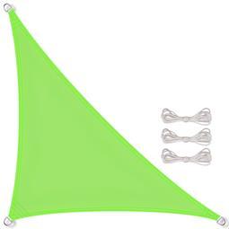 CelinaSun Sonnensegel PES wasserabweisend imprägniert inkl. Befestigungsseile Dreieck 5x5x7,1 grün
