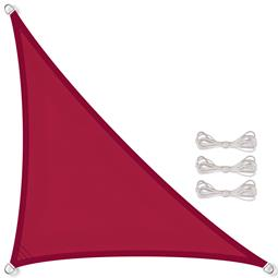 CelinaSun Sonnensegel PES wasserabweisend imprägniert inkl. Befestigungsseile Dreieck 4,6x4,6x6,5 rot