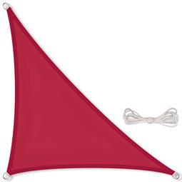 CelinaSun Sonnensegel PES wasserabweisend imprägniert Dreieck 4x4x5,65 rot