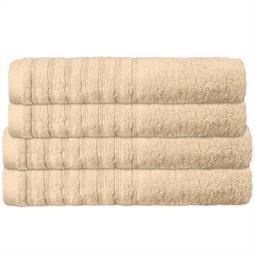 CelinaTex Handtuchset Baumwolle Frottee Pisa beige 2x 70x140 + 2x 80x200