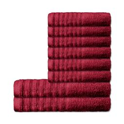 CelinaTex Handtuchset Baumwolle Frottee Pisa bordeaux 6x 50x100 + 2x 70x140