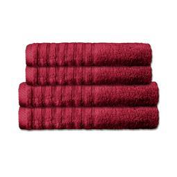 CelinaTex Handtuchset Baumwolle Frottee Pisa bordeaux 2x 70x140 + 2x 80x200