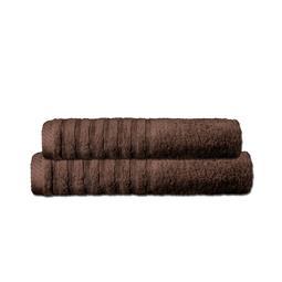 CelinaTex Handtuchset Baumwolle Frottee Pisa dunkelbraun 1x 70x140 + 1x 80x200