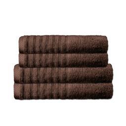 CelinaTex Handtuchset Baumwolle Frottee Pisa dunkelbraun 2x 70x140 + 2x 80x200