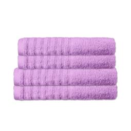 CelinaTex Handtuchset Baumwolle Frottee Pisa flieder 2x 70x140 + 2x 80x200