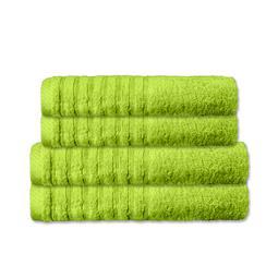CelinaTex Handtuchset Baumwolle Frottee Pisa grün 2x 70x140 + 2x 80x200
