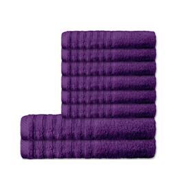 CelinaTex Handtuchset Baumwolle Frottee Pisa lila 6x 50x100 + 2x 70x140