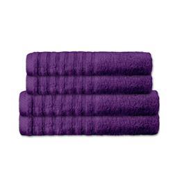 CelinaTex Handtuchset Baumwolle Frottee Pisa lila 2x 70x140 + 2x 80x200