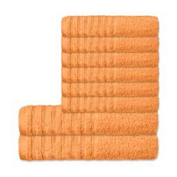 CelinaTex Handtuchset Baumwolle Frottee Pisa pfirsich 6x 50x100 + 2x 70x140