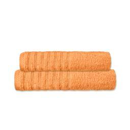 CelinaTex Handtuchset Baumwolle Frottee Pisa pfirsich 1x 70x140 + 1x 80x200