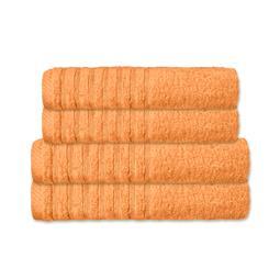 CelinaTex Handtuchset Baumwolle Frottee Pisa pfirsich 2x 70x140 + 2x 80x200