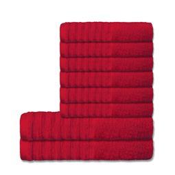 CelinaTex Handtuchset Baumwolle Frottee Pisa rot 6x 50x100 + 2x 70x140