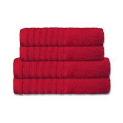 CelinaTex Handtuchset Baumwolle Frottee Pisa rot 2x 70x140 + 2x 80x200