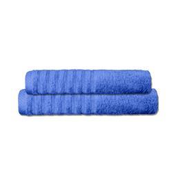 CelinaTex Handtuchset Baumwolle Frottee Pisa royalblau 1x 70x140 + 1x 80x200